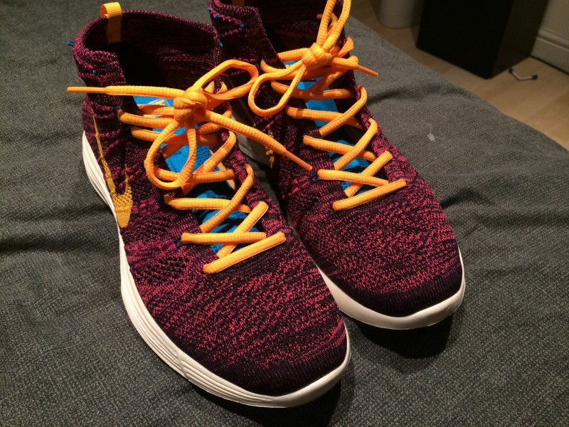Nike Flyknit Chukka - grand purple total orange 2