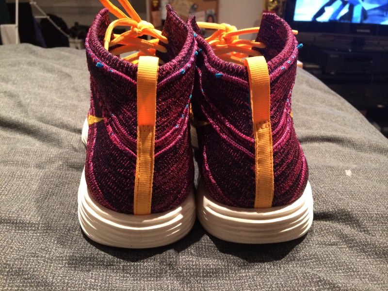 Nike Flyknit Chukka - grand purple total orange 3