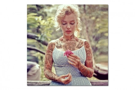 Cheyenne Randal turns Famous Celebrities Into Tattooed Hipsters