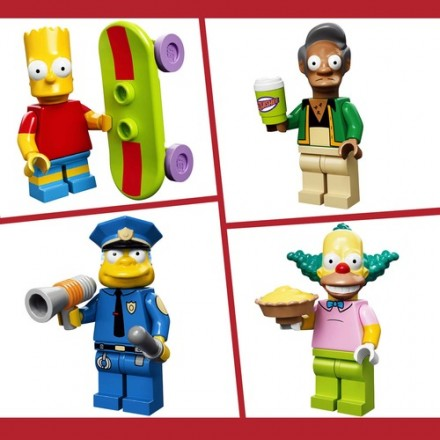 The Simpsons x LEGO mini figures
