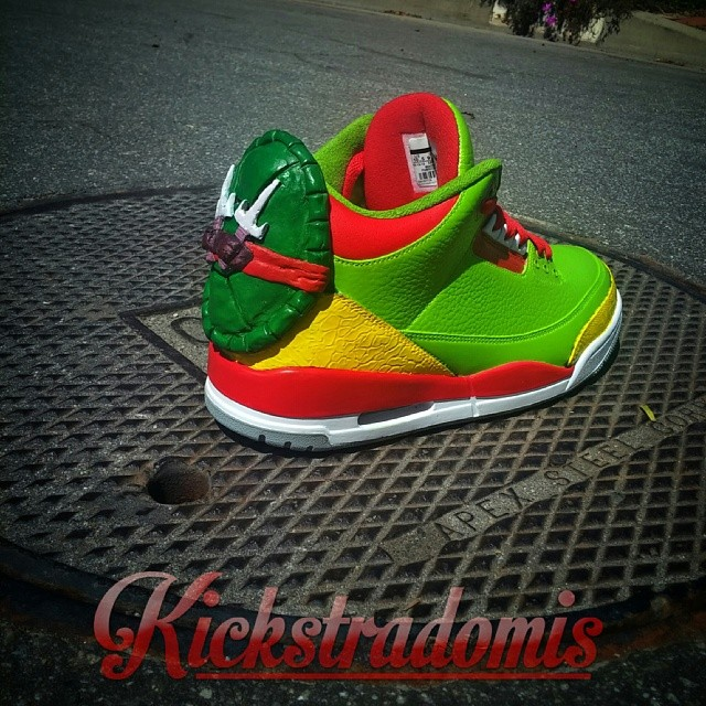 Ninja Turtles Custom Air Jordan III by Kickstradomis 3