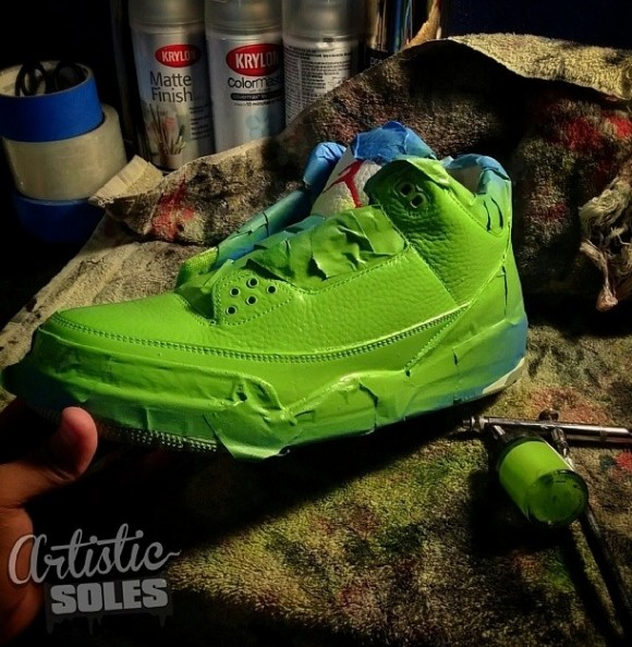 Ninja Turtles Custom Air Jordan III by Kickstradomis 2