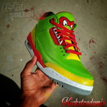 Ninja Turtles Custom Air Jordan III by Kickstradomis