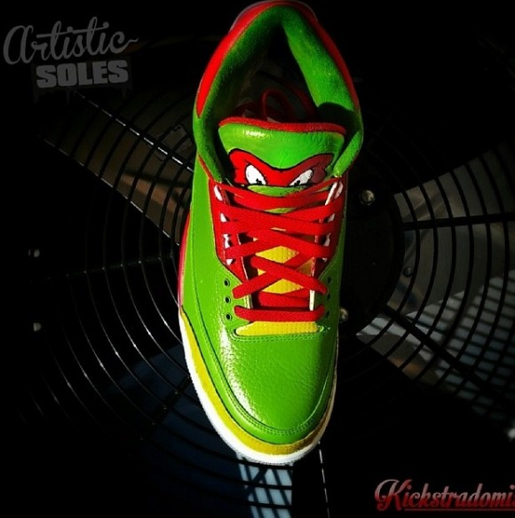 Ninja Turtles Custom Air Jordan III by Kickstradomis 1