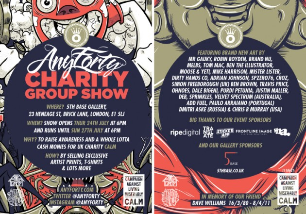 AnyForty Charity Group Show for CALM