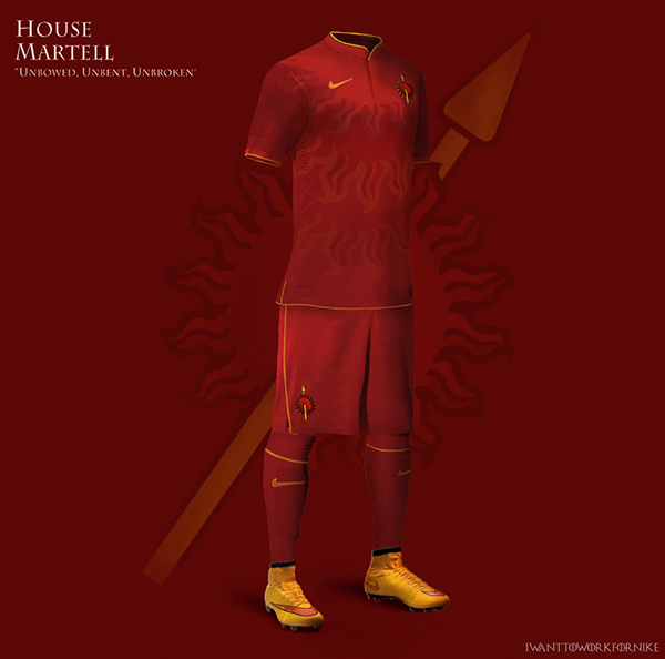 Game of Thrones World Cup Nike Kits 08