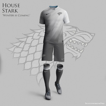 Game of Thrones World Cup Nike Kits