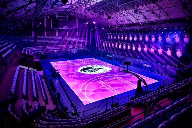 Nike's LED Basketball Court