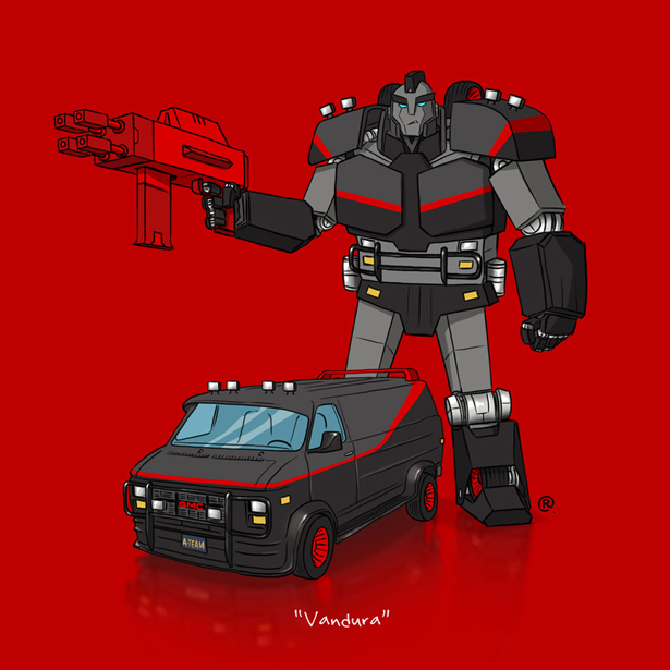 Iconic Cars as Transformers