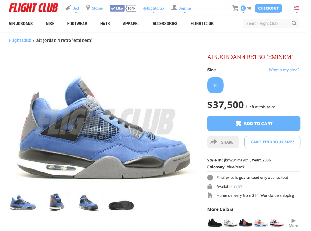Eminem Air Jordan 4 for sale