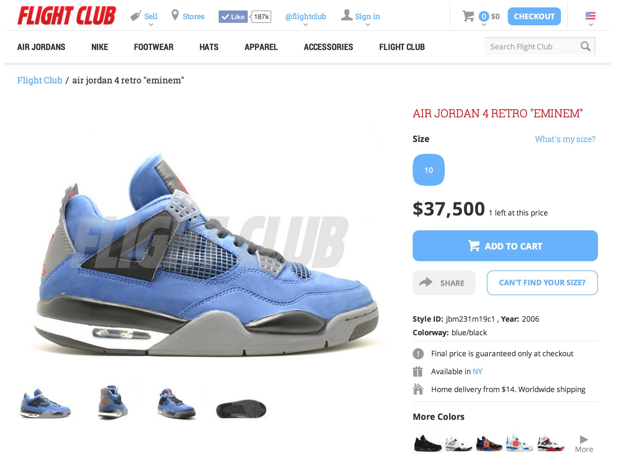 air jordan 4 eminem flight club